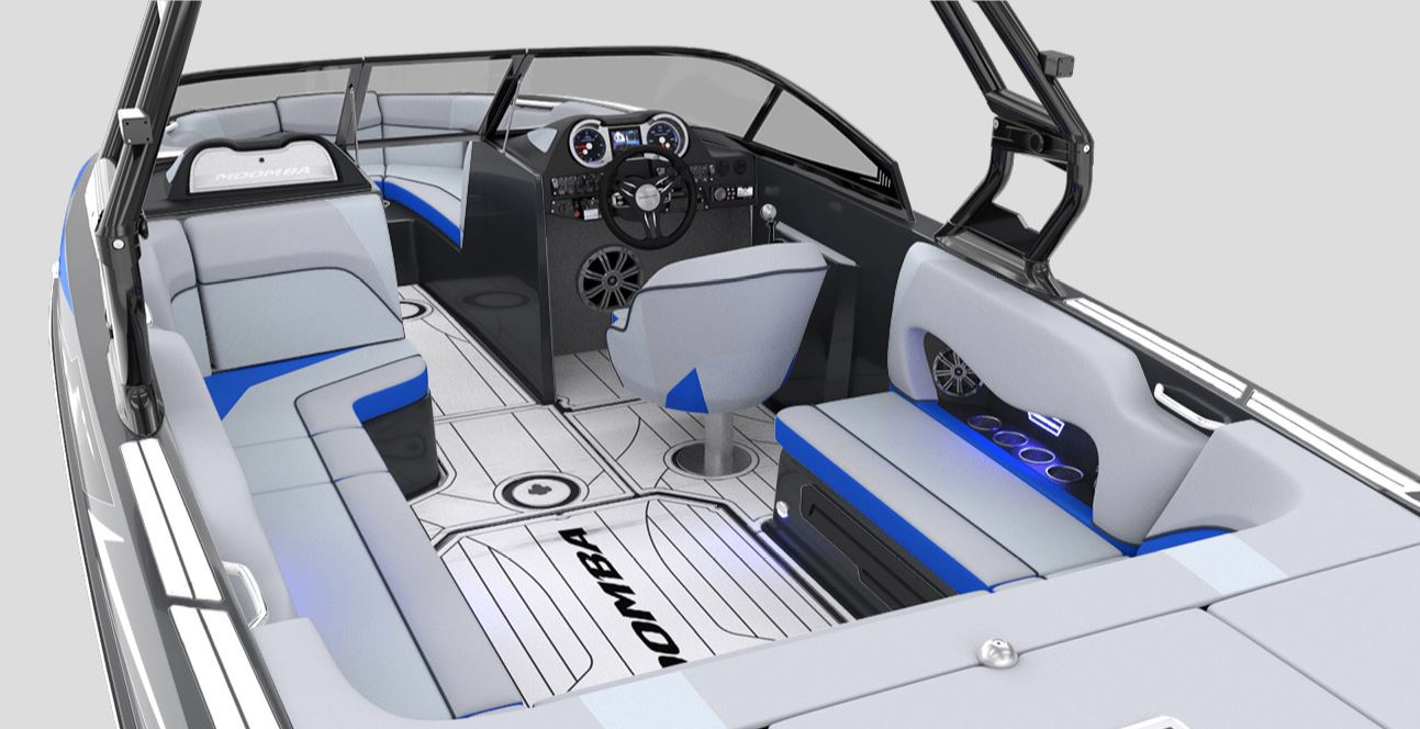 Grey and Blue interior